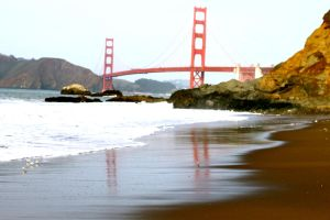 Golden Gate Reflections by R-M-Williams