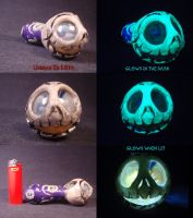 Flesh Style Jack Skellington Pipe by Undead Ed by Undead-Art