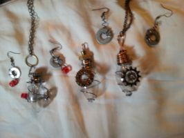 All the pendants! by thatoneginger