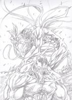 VENoM  and CArNAGE by rivaloya
