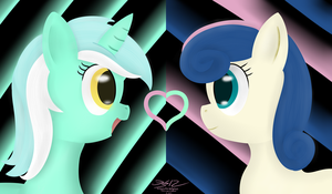 Lyra and Bon Bon by MikorutheHedgehog