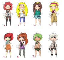 Left Over Adopts Redrawn [CLOSED] by xRaeylx