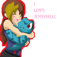 Totodile by CaitlinBear