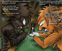 Brambleclaw and Squirrelflight's Argument by KangaeOkami
