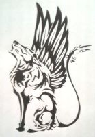 Eagle Wolf-Cat Tat by TheMajesticCarnival by Gatekat