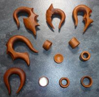 Mahogany Stretchers by Mental4Metal666