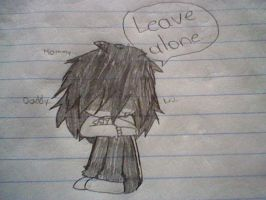 Leave me alone please.. by Menathehedgehog
