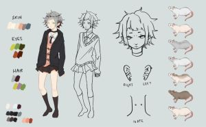 Character Sheet - Ame by umepai