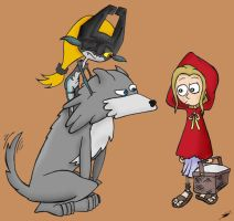 Big Bad Wolf ... and Midna by cartoons4andy