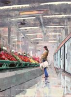 The Market by Juhupainting