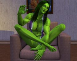 She hulk Exclusive excluded 01 by MorganCygnus
