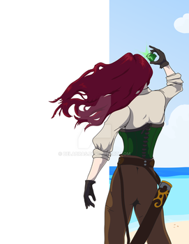Pirate on the Beach by Belabras