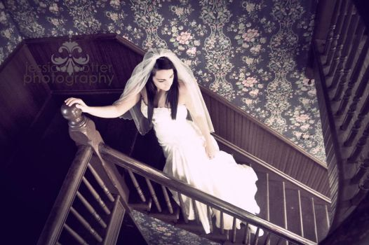 on the stairs.. she waits by MrsCorbettPotter