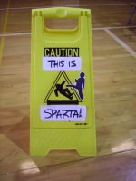 :CAUTION - SPARTA: Sign 03 by BlackeHavoc