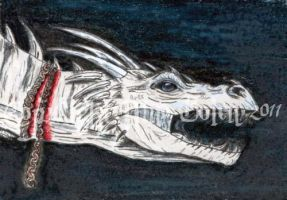 Harry Potter Dragon ACEO by The-GoblinQueen