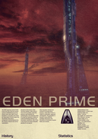 Mass Effect Eden Prime Vintage Poster by Titch-IX