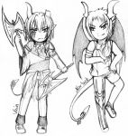 tCoQ: tRT - Vain and Nor - chibi (sketch) by Kitsunka
