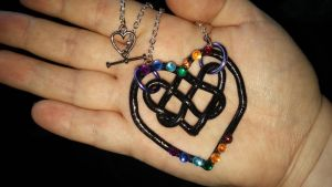Chakra Celtic Heart Knot by ShadyDarkGirl