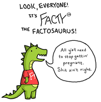 Facty The Factosaurus Issue 1 by KatRaccoon
