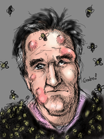 Henry winkler covered in bees by garou-z