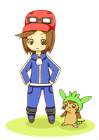 trainer and chespin~ by miischaa