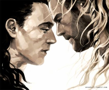 Thor and Loki by evankart