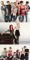 What a happy Sim family by JAWjakerssure