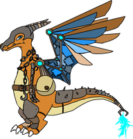 steampunk charizard by maddytheskymin