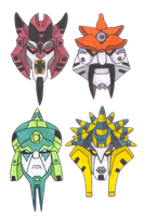 Transformers Animated Quintesson Mask Designs by yodana