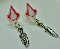 Assassin Creed Logo Studs by geekypnai
