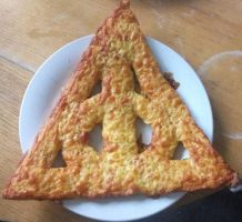 Deathly Hallows pizza. by GlamGul10