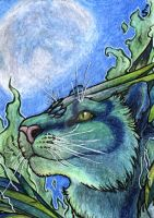 ACEO/ATC: Tiger God by Samantha-dragon