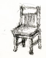 Chair -- Non-Dominant Left Hand Sketch No.4 by jdb2