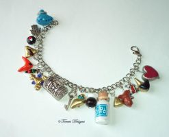 Zelda OoT Charm Bracelet with MilkBottle RedFrog by TorresDesigns