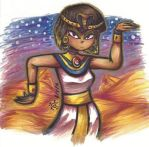 Ancient Egyptian Woman by Toon-O-Clock