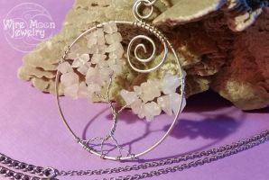 Wire Wrapped Cherry Tree of Life Necklace by WireMoonJewelry