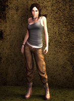 Lara Croft Reborn DAZ by xDLGx