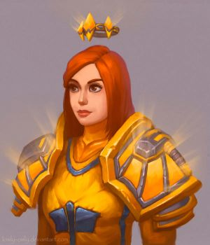 Commission: Human Paladin by lowly-owly