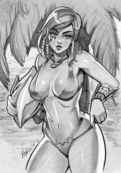 Play Nice Play Bikini Pharah AX Commish by reiq