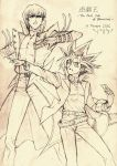 Kaiba and Yugi (sketch) by Ycajal