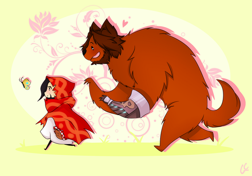 Little Red Riding Hood and the McWolf by GinaCookies
