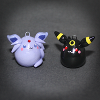 Pokemon - Eeveelution pendants - Espeon + Umbreon by SuperSiriusXIII