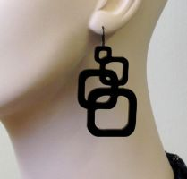 Super Sale 20% off Inseparable Squares earrings by baronyka