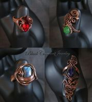 Few More Rings I by blackcurrantjewelry