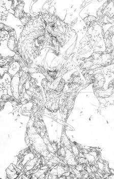 Burning Man #3 cover - Pencils by DrewGeraci