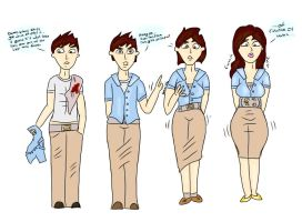 Stolen Uniform : TG Transformation by Grumpy-TG