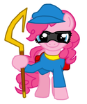 Pinkie Pie as Sly Cooper by Death-Driver-5000