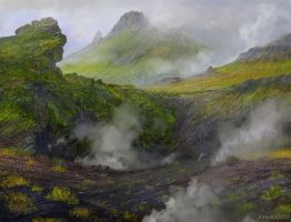 Iceland lava valley attempt 2b by andrekosslick
