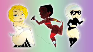 Mashi-fied Pop culture ladies by AmigoDan