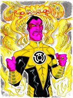 Sinestro with Parallax entity by misfitcorner